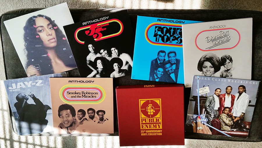 Sandra's record collection