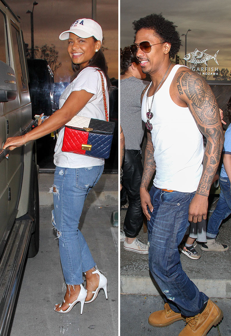 PICS: Nick Cannon & Christina Milian Meet Up for Dinner Date