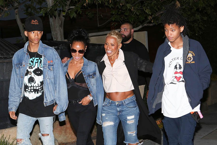 Jaden Smith, Jada Pinkett Smith, grandmother Adrienne Banfield-Jones, and  Willow Smith went out to dinner to celebrate Mother's Day at Nobu seafood  ...