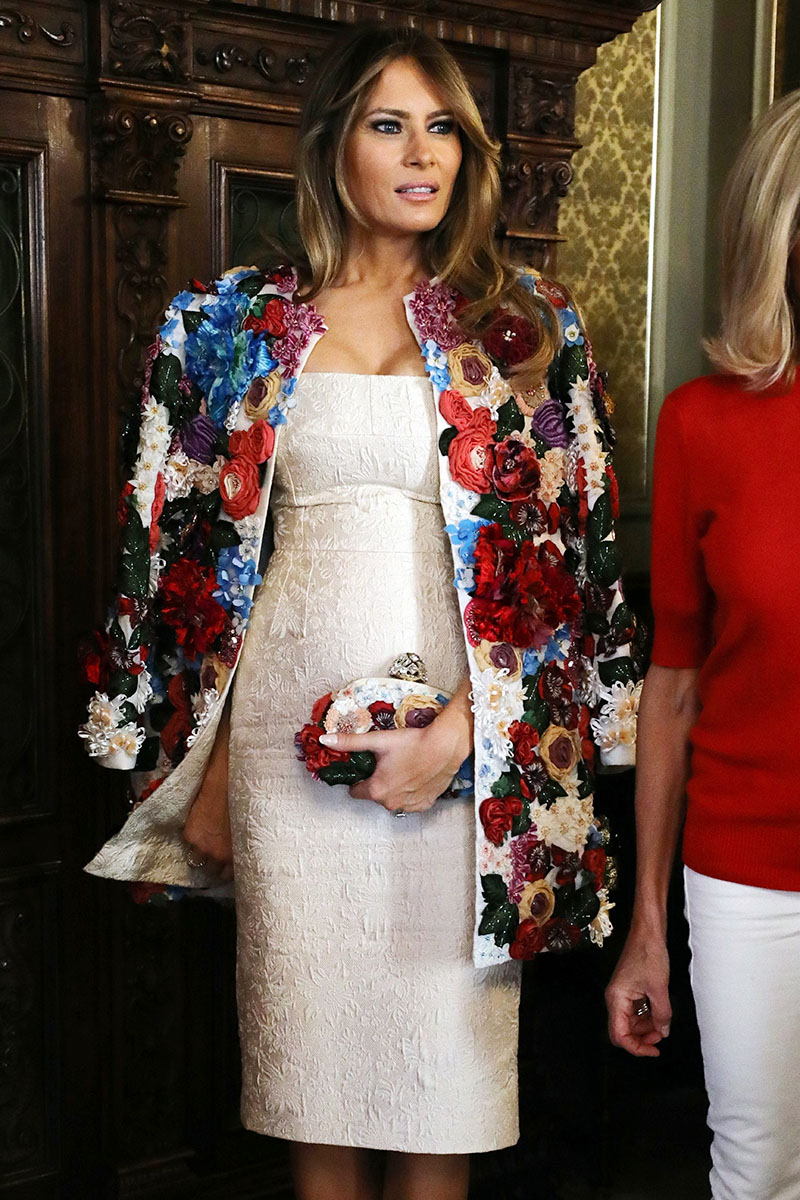 c9fa125c Dolce & Gabbana fashion house scored a home run when former model Melania  Trump wore their creations during her visit to Europe and the Middle East  last ...
