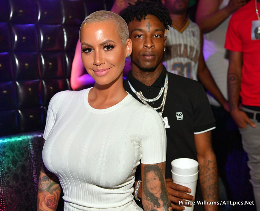 edd628b58bf9 On Saturday Night, Hollywood socialite Amber Rose and rapper 21 Savage  hosted a party at Medusa Lounge In Atlanta. GUests included Quavo and  Takeoff from ...