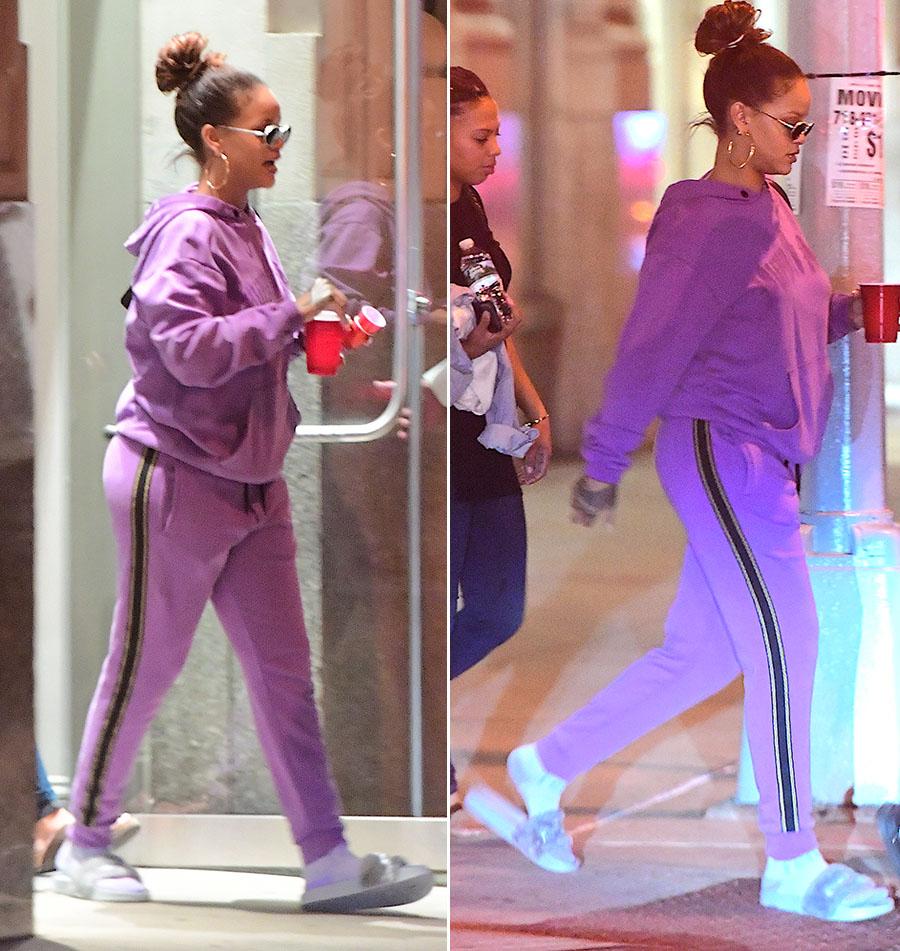 rihanna wearing fenty x puma