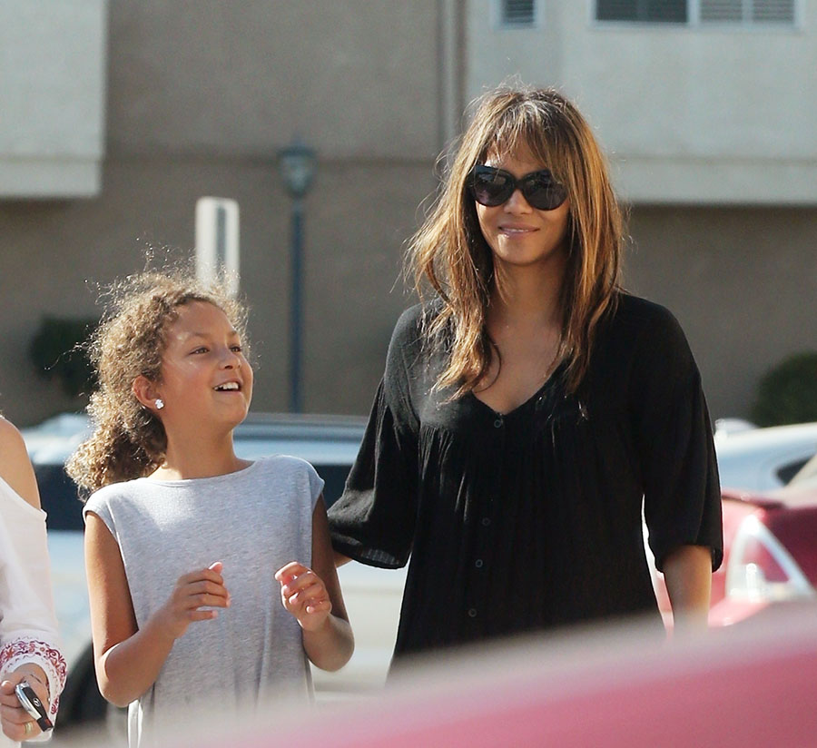 halle berry daughter hair in yawn
