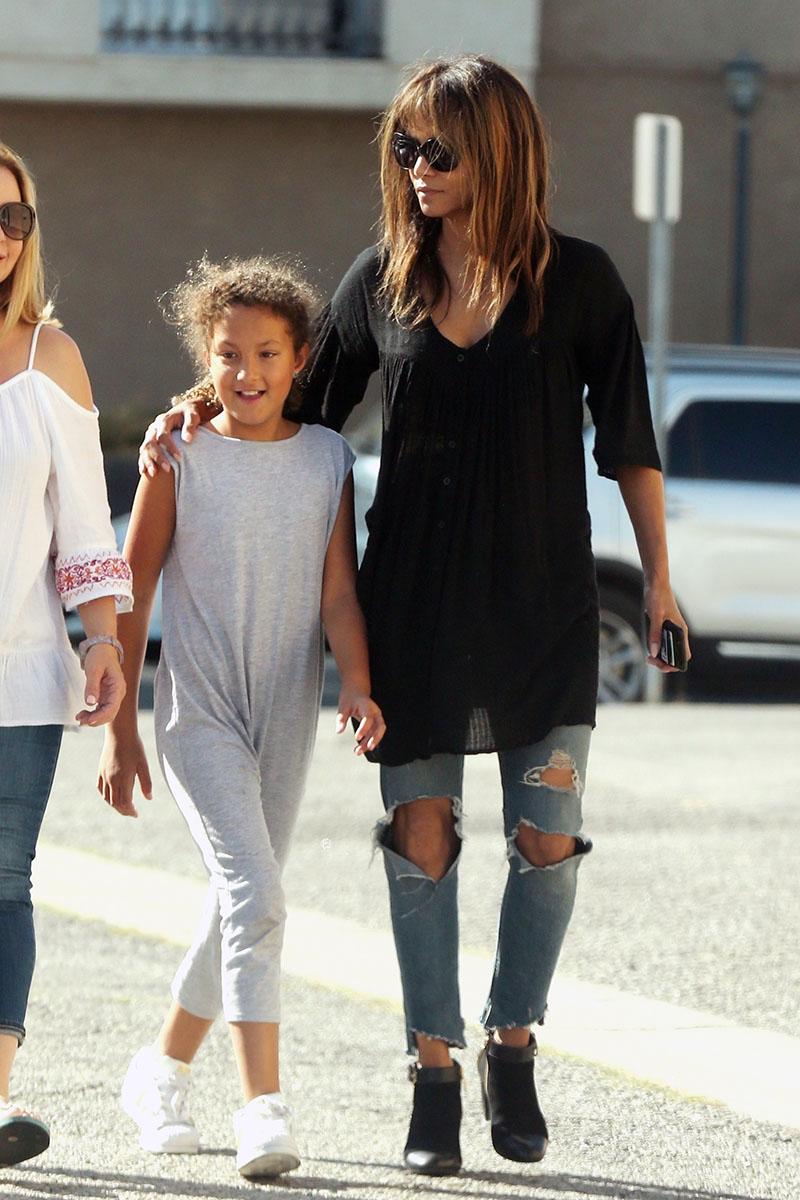 Halle Berry & daughter Nahla Aubry | Sandra Rose