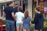 Jennifer Lopez & Alex Rodriguez with their kids