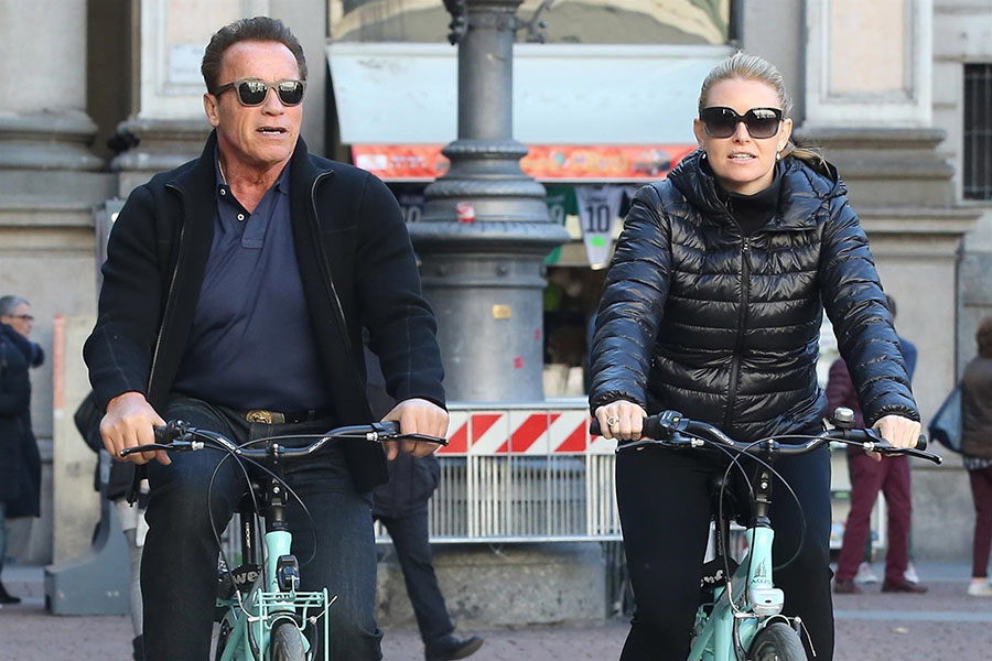 Milligan is heather Arnold Schwarzenegger