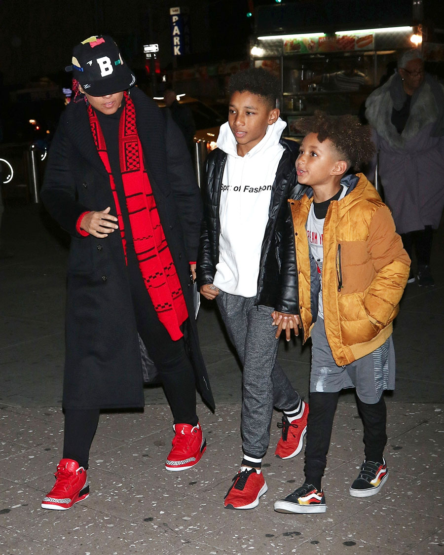 Alicia Keys, Kasseem Jr and Egypt