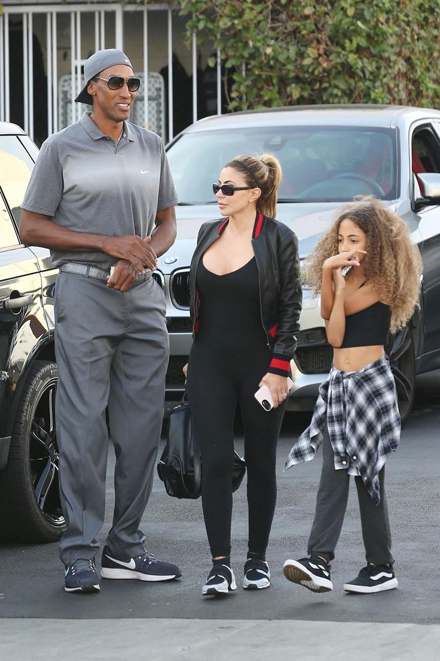 Scottie, Larsa and Sophia Pippen