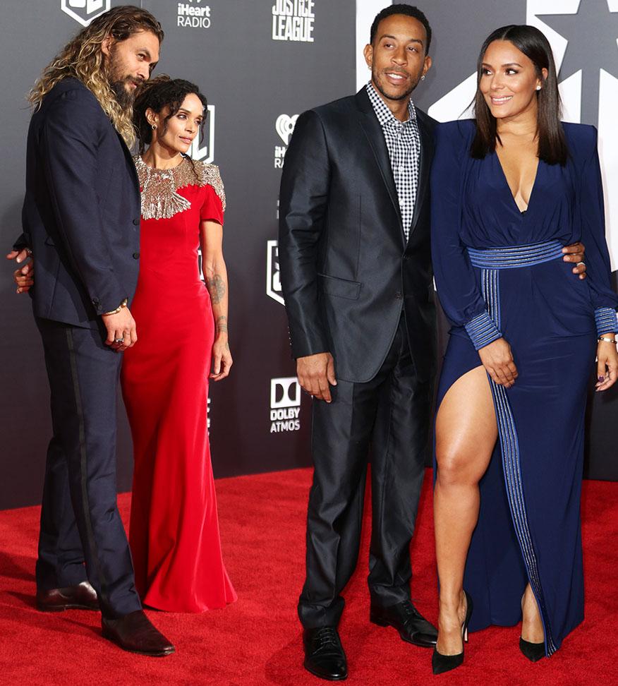 Jason Momoa & Lisa Bonet Momoa, Ludacris & Eudoxie Bridges