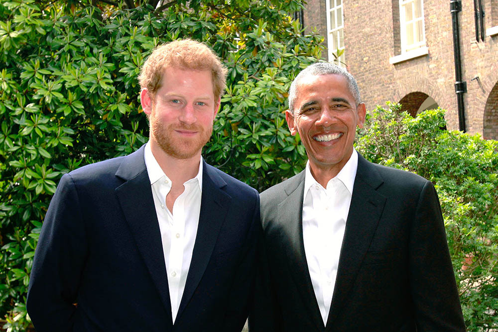 Prince Harry Meets Barack Obama