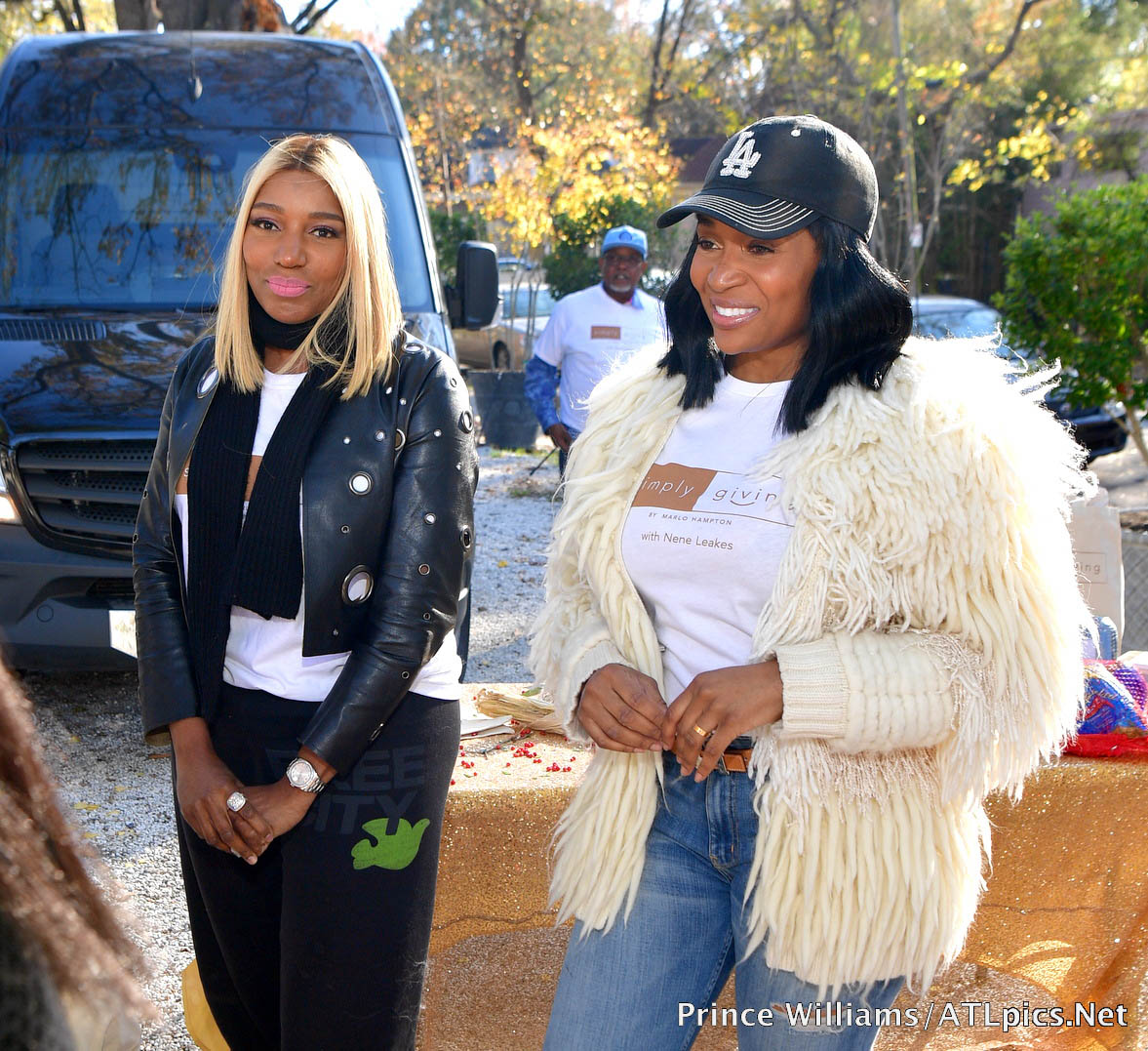 NeNe Leakes and Marlo Hampton turkey giveaway