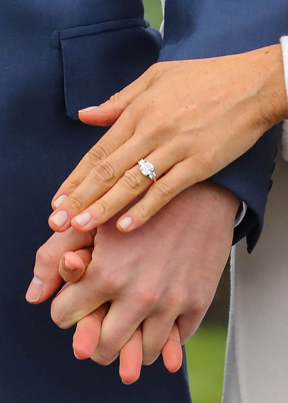 Meghan Markle ring detail