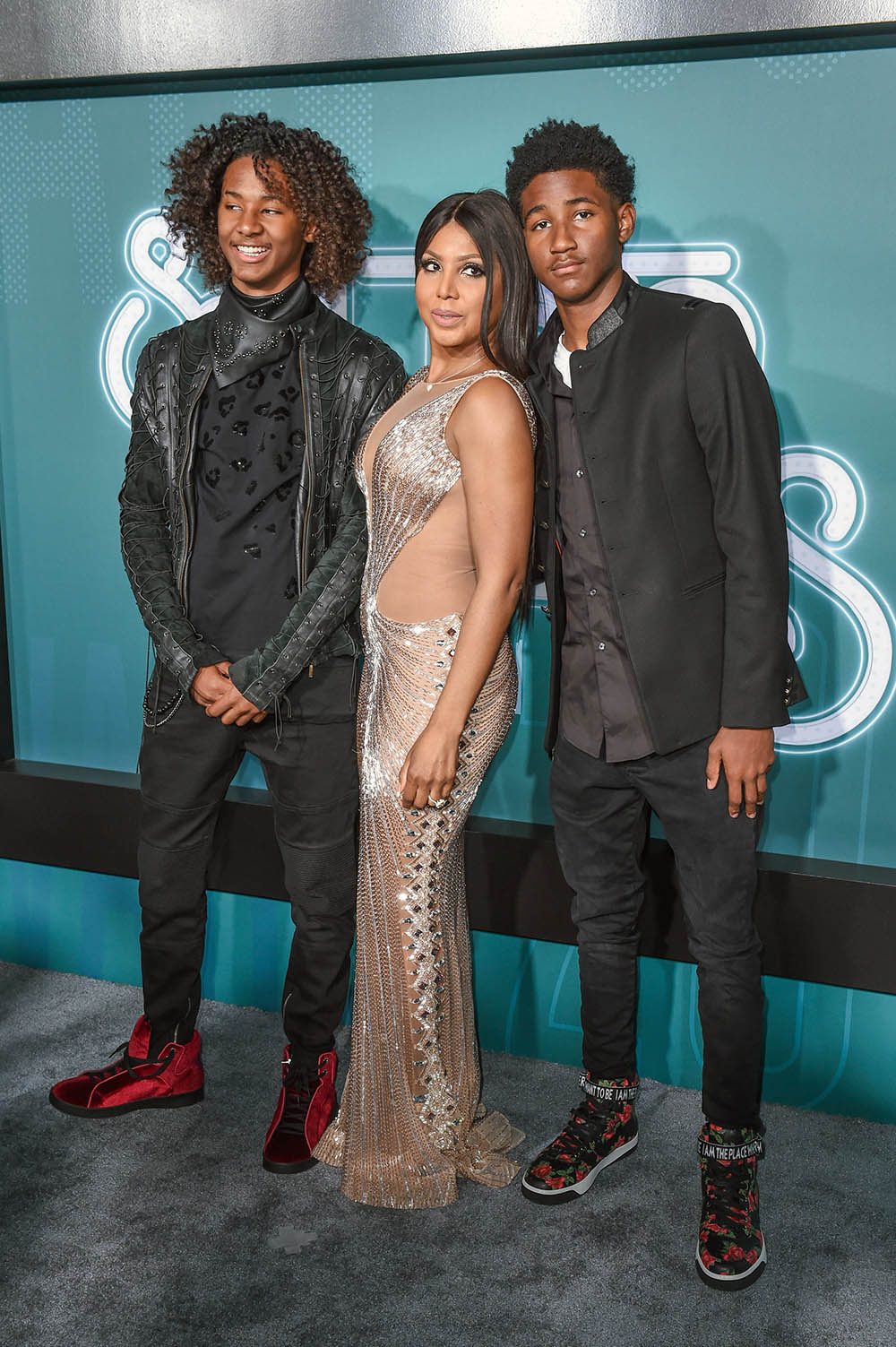 Toni Braxton And Sons Denim And Diezel Sandra Rose
