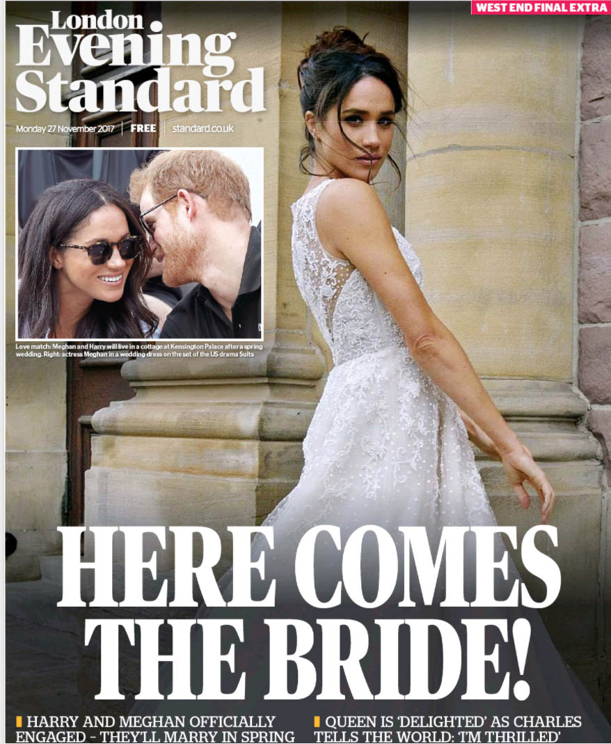 Newspapers around the world celebrate the engagement of Prince Harry and Meghan Markle