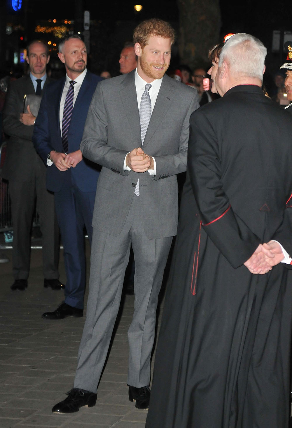 Prince Harry at the London Fire Brigade Carol Service