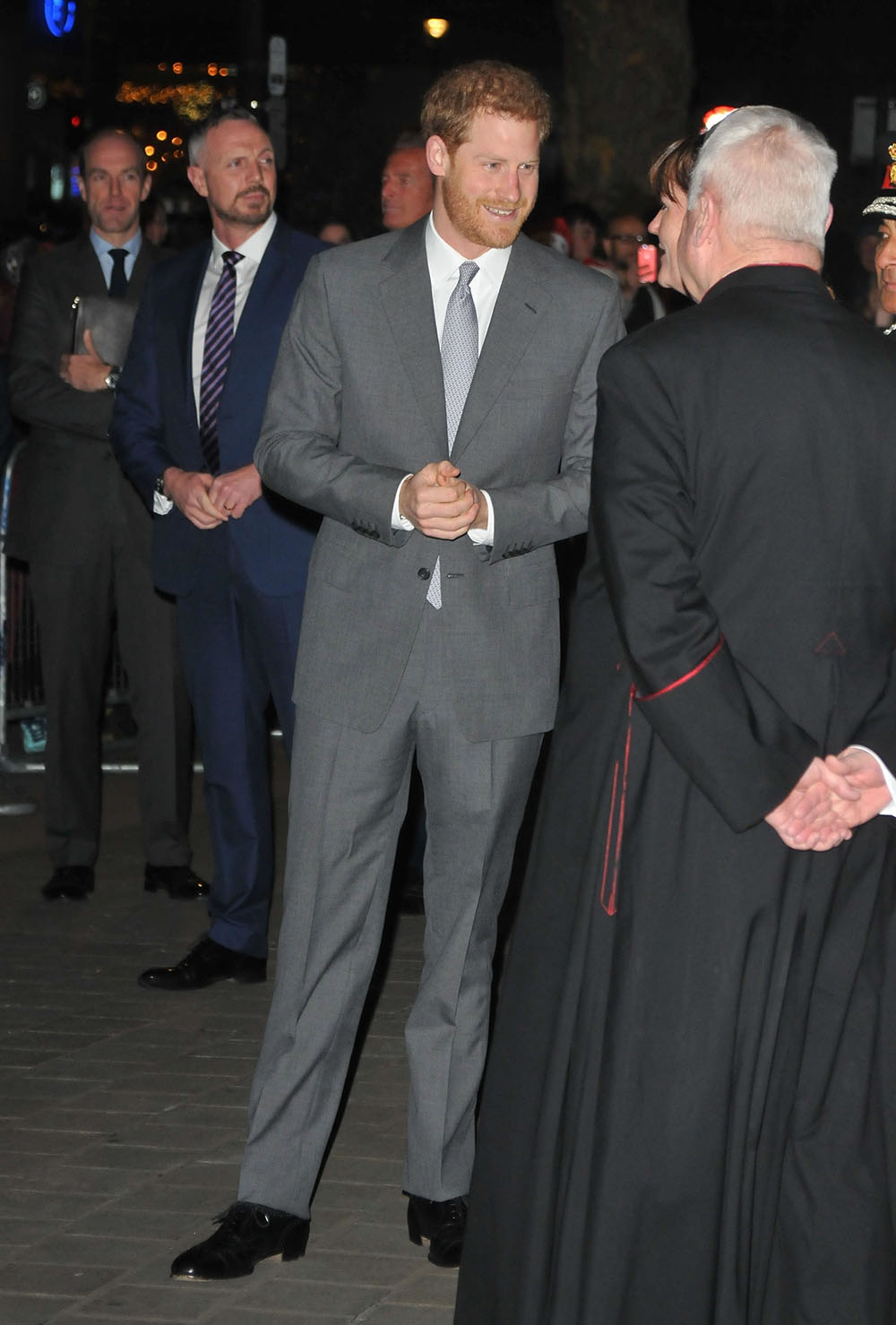 Prince Harry at the London Fire Brigade Carol Service