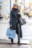 Rosie Huntington-Whiteley Christmas shopping in NYC