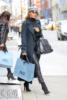 Rosie Huntington-Whiteley Christmas shopping in NYC
