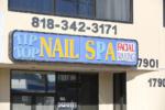 Blac Chyna at nail salon
