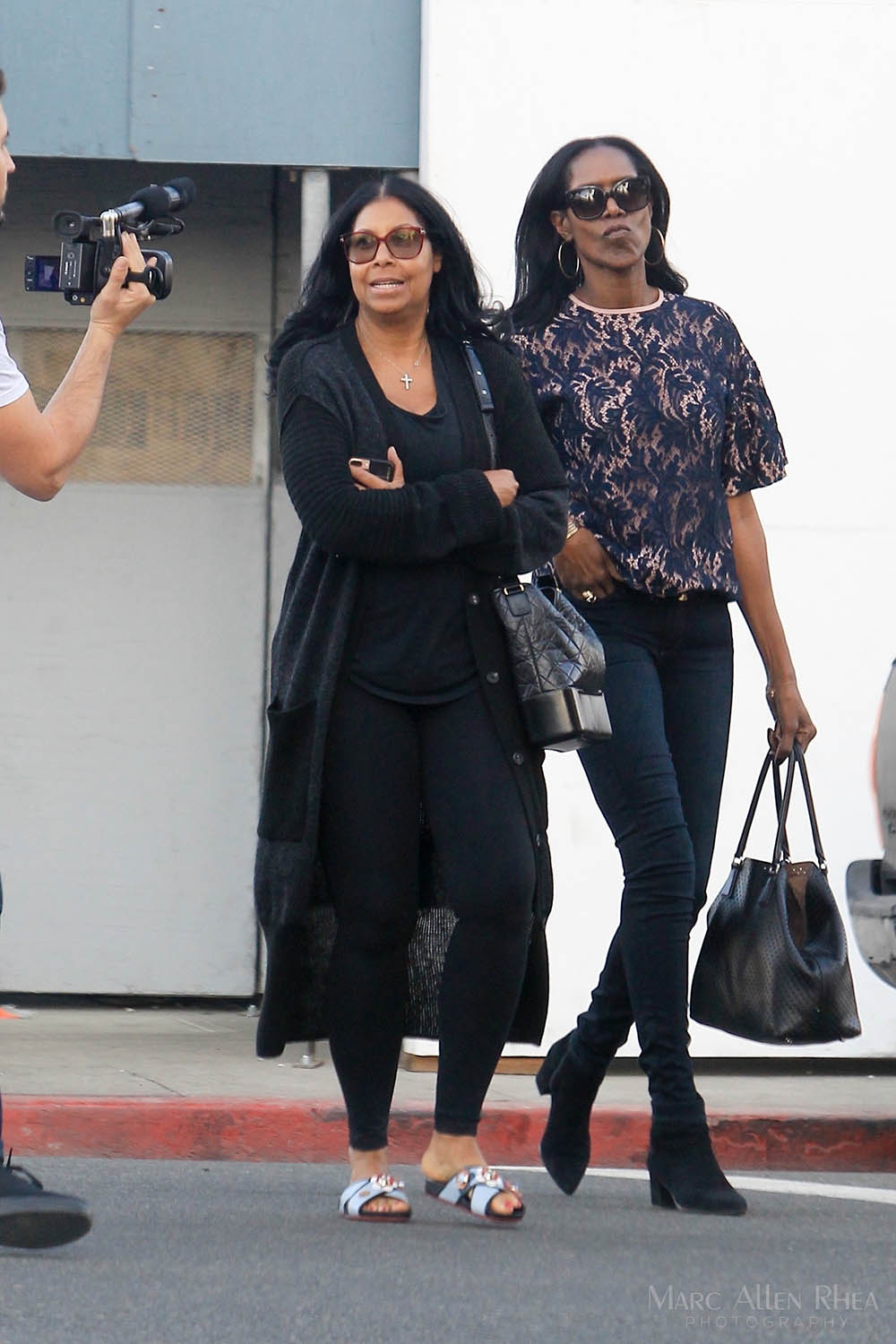 Cookie Johnson and friend in Beverly Hills