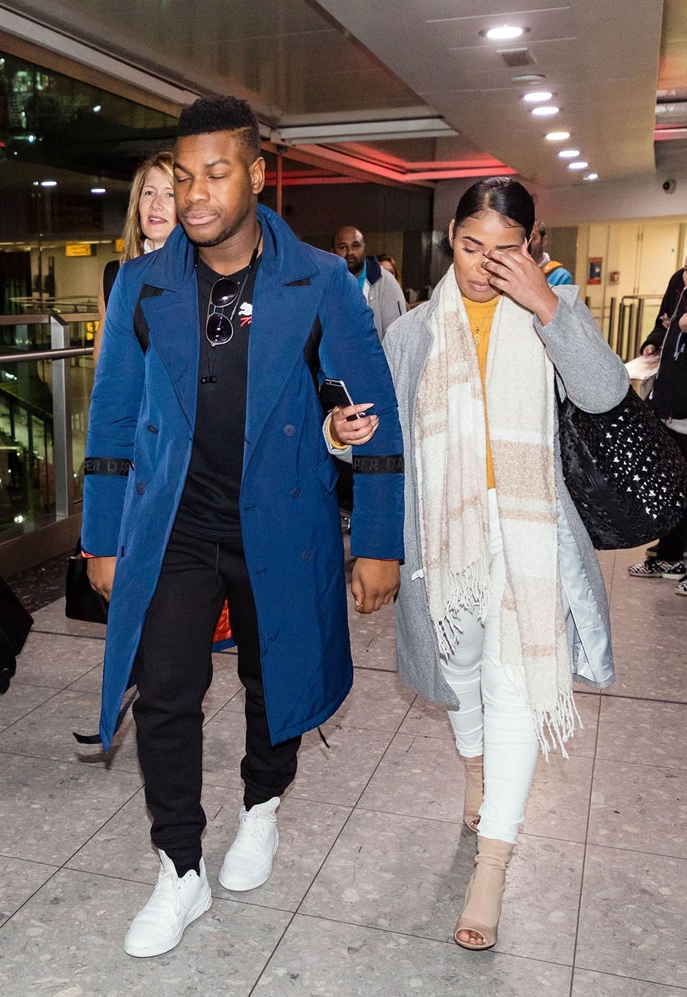 John Boyega and mystery woman in London