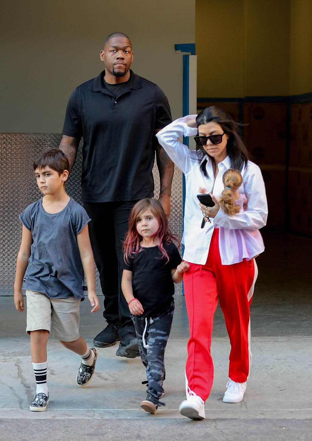 Kourtney Kardashian And Kids Mason And Penelope Sandra Rose