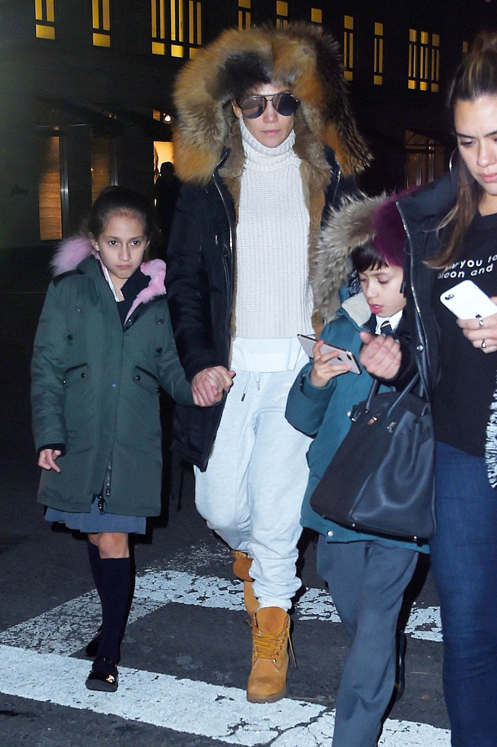 Jennifer Lopez and twins in NYC