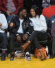 Kevin Hart & Eniko Parrish at Lakers vs Warriors game