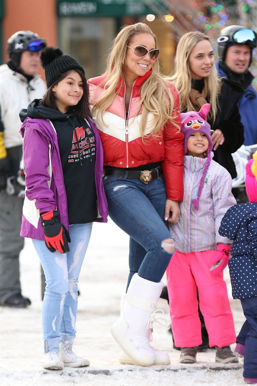 Mariah Carey shopping at Ralph Lauren in Aspen, CO