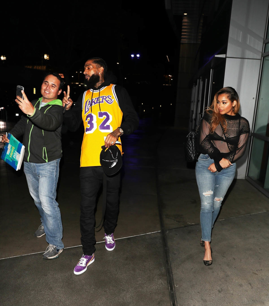 This Christmas Lauren London.Nipsey Hussle And Lauren London Leave The Lakers Christmas