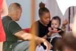 Janet Jackson feeds baby son Eissa in Miami Beach, Florida