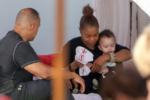 Janet Jackson feeds baby son Eissa in Miami Beach, Florida