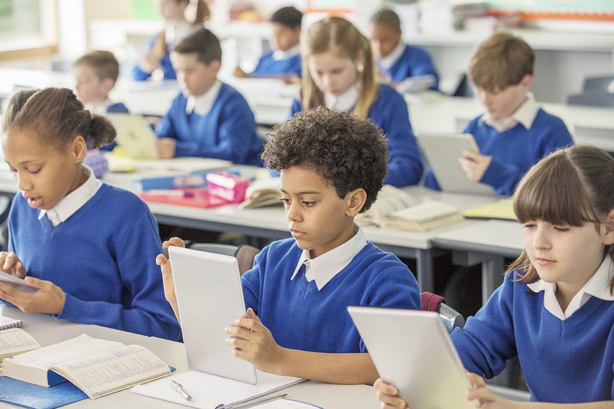 School children in England