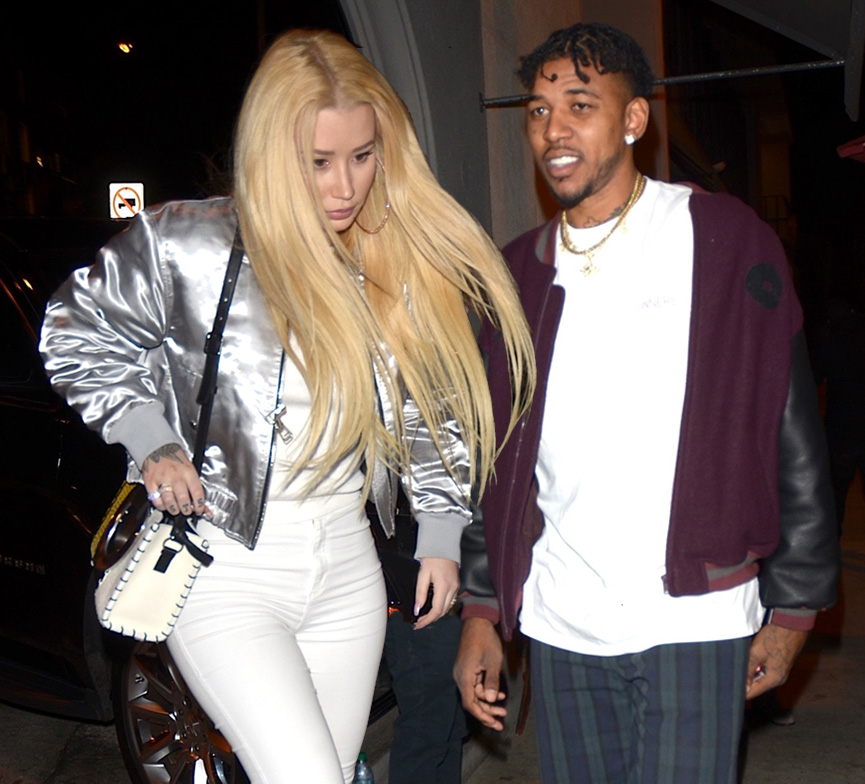 Iggy Azalea and Nick Young at Craig's