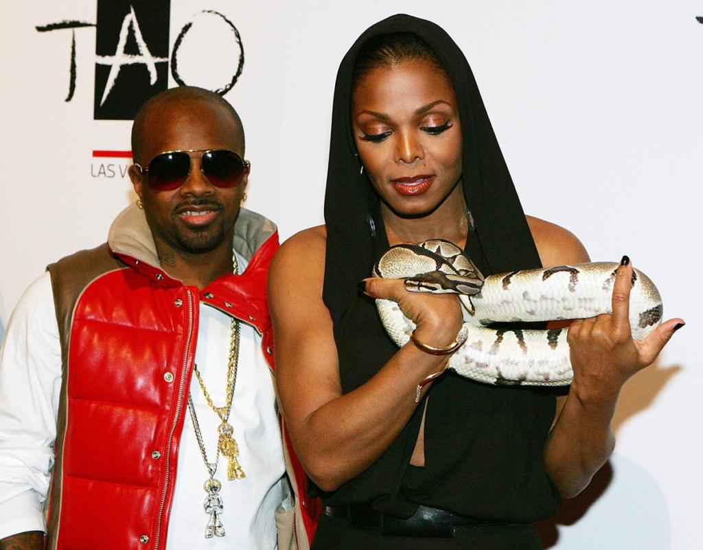 Jermaine Dupri Janet Jackson At Tao Nightclub Las Vegas