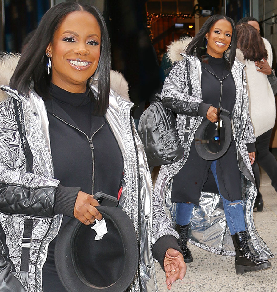 Kandi Burruss leaving studios of Kelly & Ryan Show