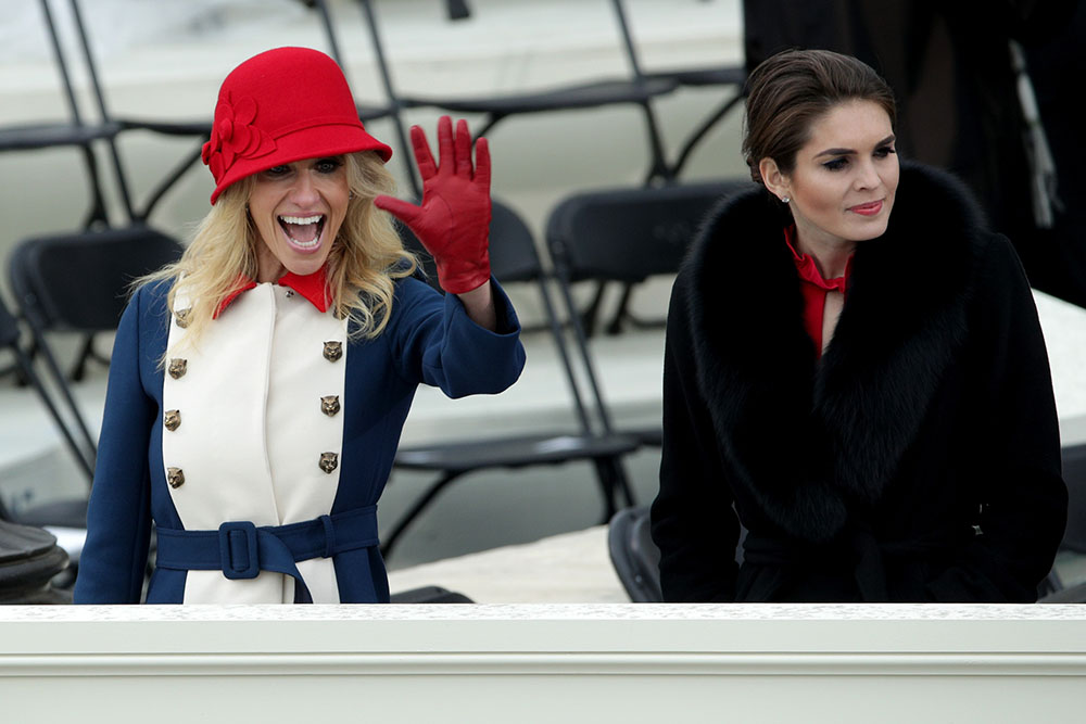 Kellyanne Conway, Hope Hicks on January 20, 2017 in Washington, DC.