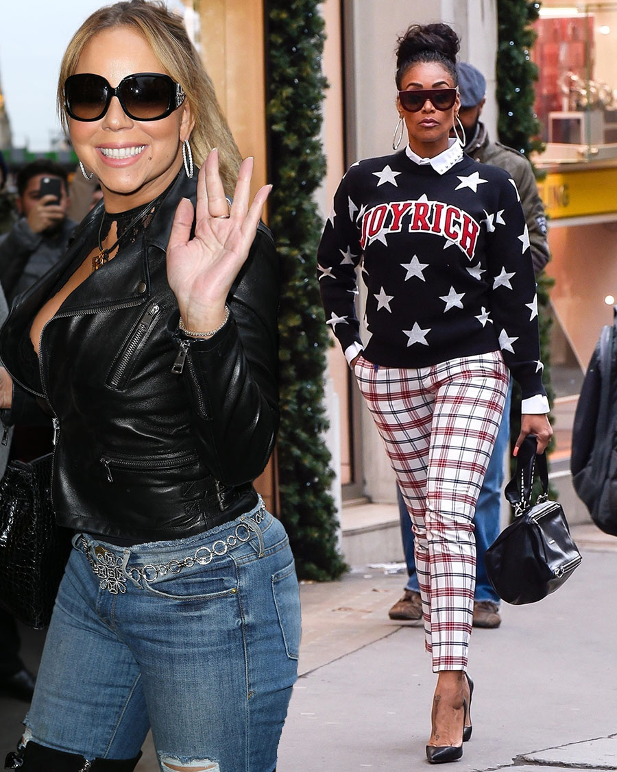 Mariah Carey in Paris, Tami Roman in London