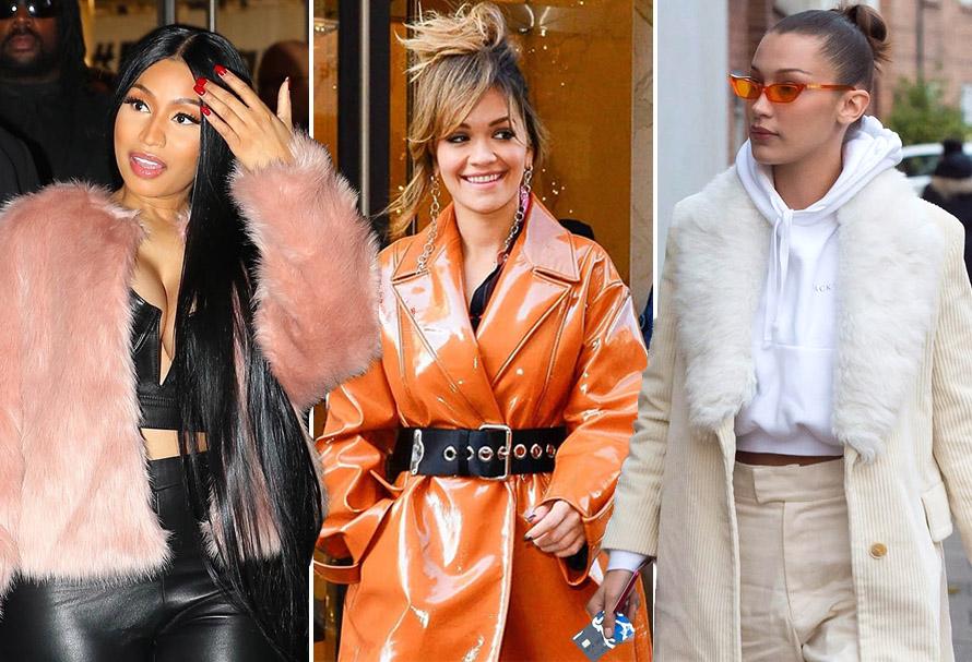 Nicky Minaj, Rita Ora, Bella Hadid