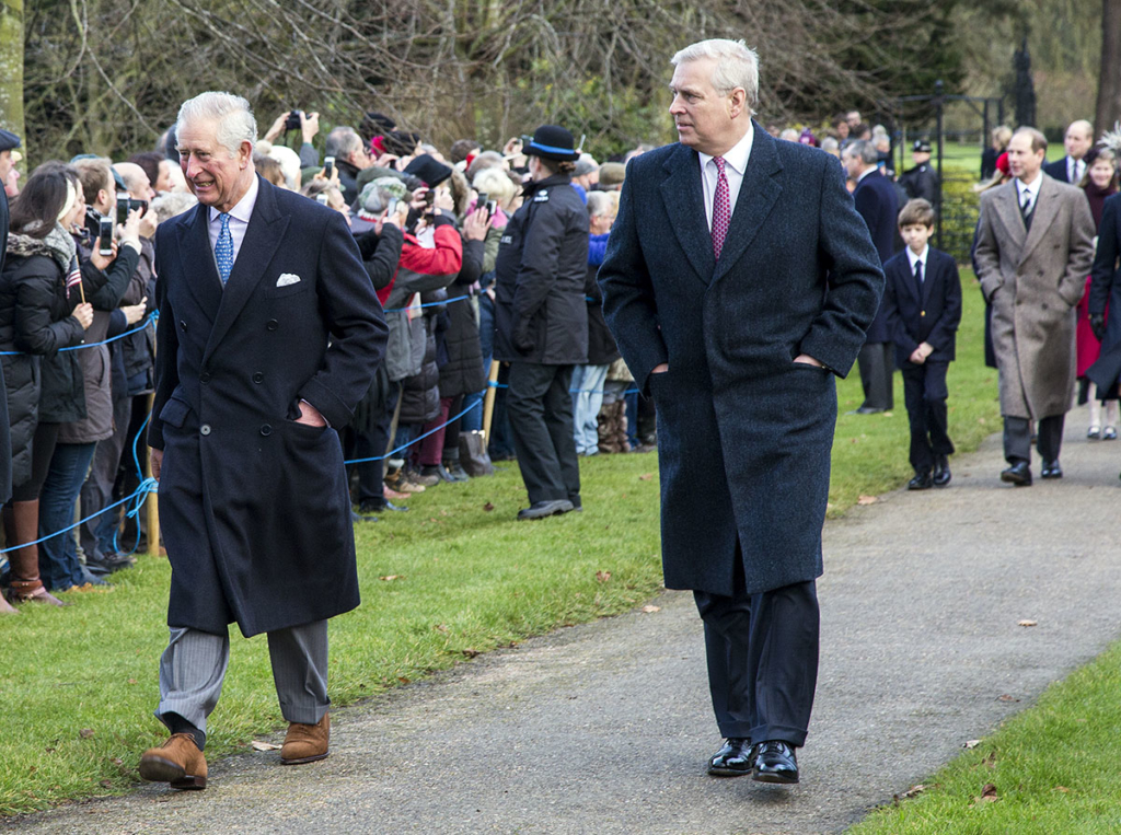 prince charles and prince andrew joins the royal family at