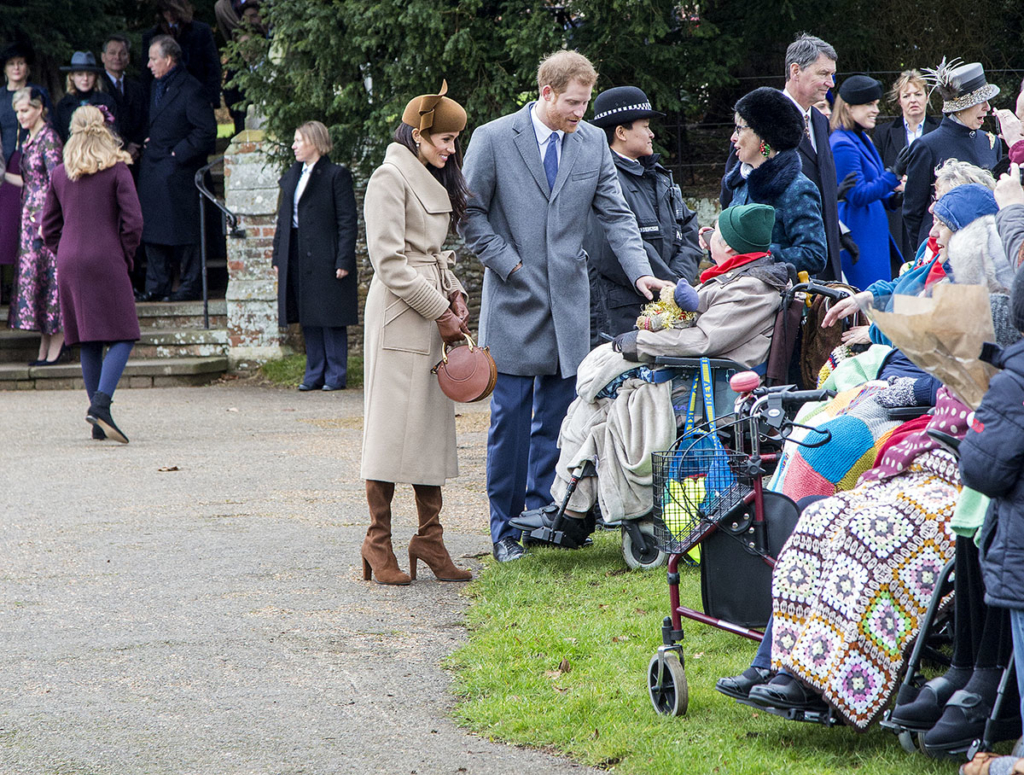 the british royal family arrive at sandringham to