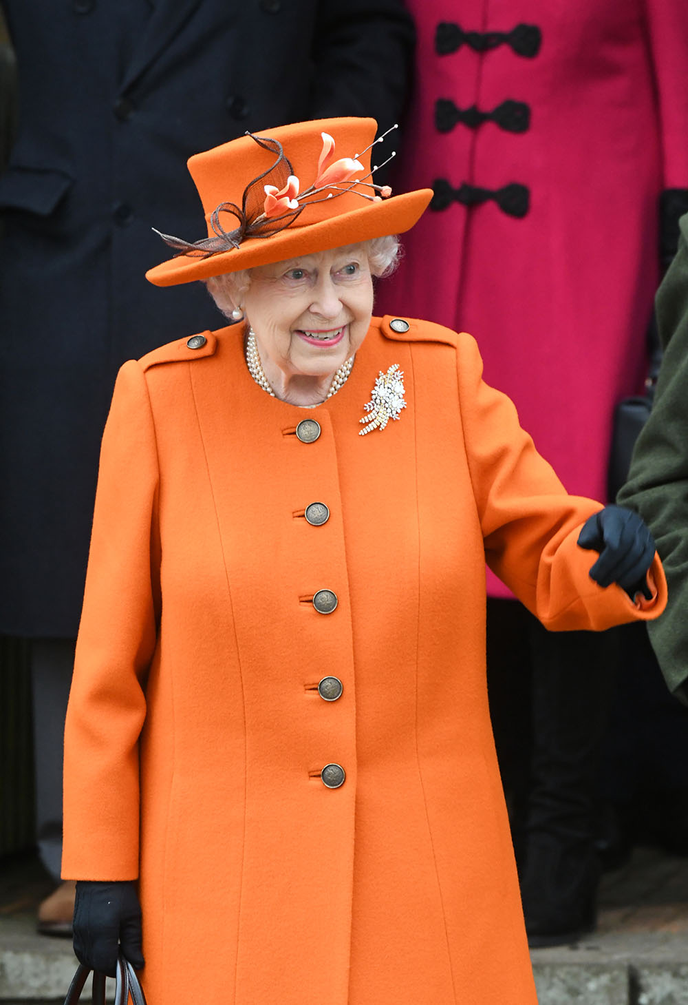 queen elizabeth joins the royal family at sandringham on