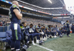 Seahawks sit for the national anthem before game vs Rams