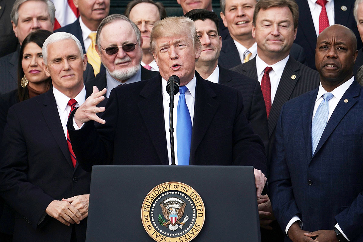 President Trump Speaks On The  GOP Tax Cuts