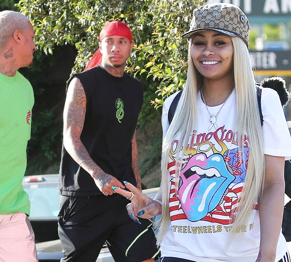 Tyga, a friend and Blac Chyna