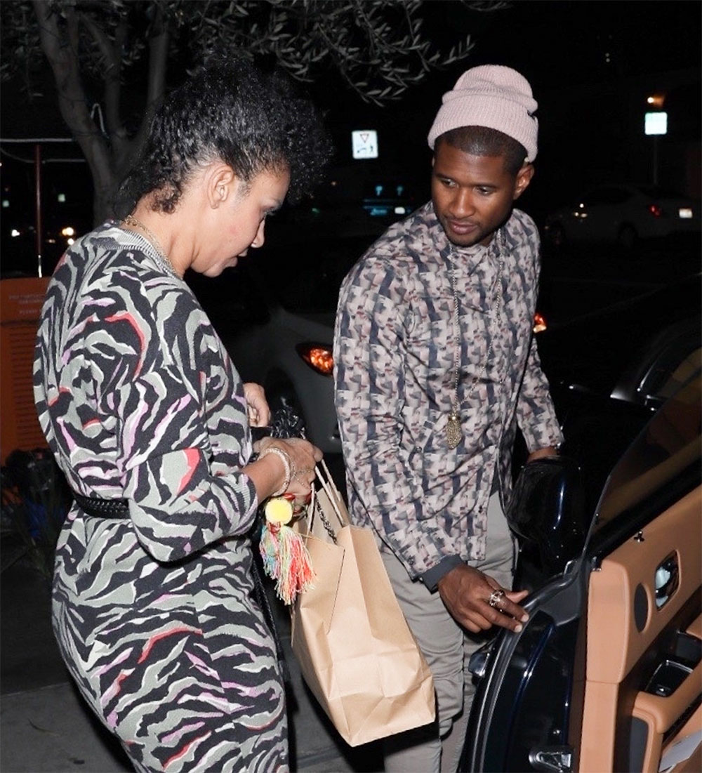 Usher & Grace on a date night at The Little Door restaurant
