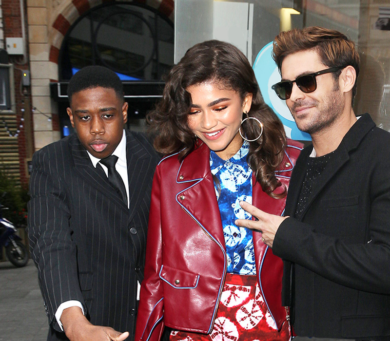 Zac Efron and Zendaya in London