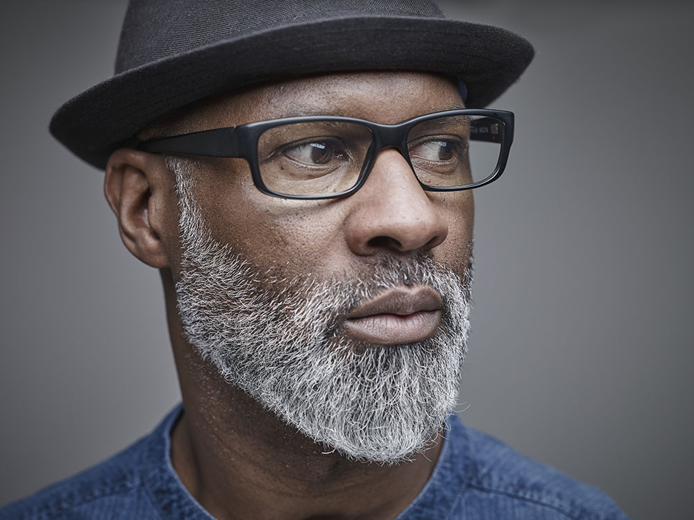 Portrait of black man with grey beard