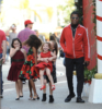 Babyface and family at The Grove