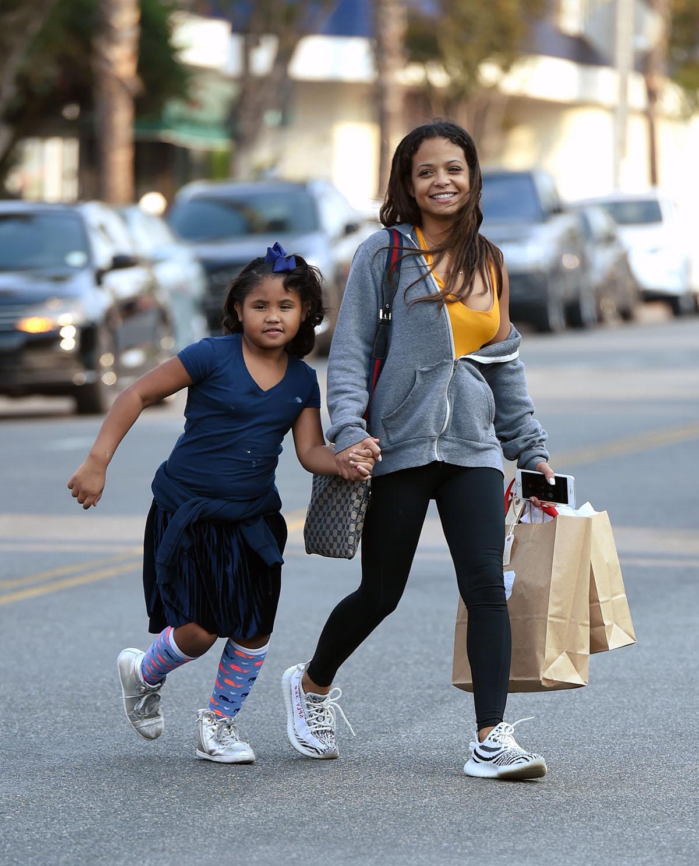 Christina Milian and daughter Violet Madison Nash